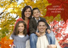 Simple Fall Leaves Thanksgiving Photo Card