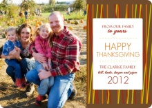 Harvest Colored Lines Thanksgiving Photo Card