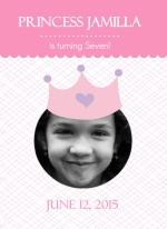 Princess Trifold with Photo Girls Birthday Party Invitation