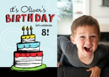 Hand Drawn Cake Birthday Party Invitation