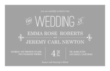 Gray Whimsical  Wedding Invitation