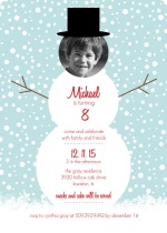 Snowman Party Holiday Birthday Invitation