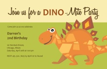 Green Stegosaurus Birthday Invitations