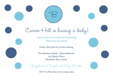 Blue Polka Dot Baby  Baby Shower Invite