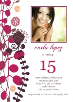 Sweet Fifteenth Birthday Party Invitation