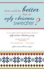 Ugliest Christmas Sweater Holiday Party Invitation
