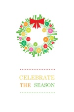 Festive Christmas Wreath Holiday Card