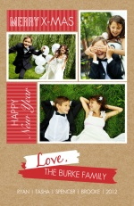 Modern Kraft Christmas Photo Card