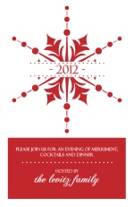 Stunning Red Snowflake New Years Card