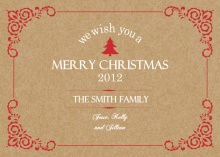 Shabby Chic Christmas Card