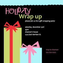 Wrap It Up Holiday Gift Wrapping Party Invitation