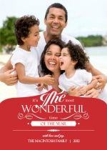 Wonderful Life Christmas Photo Card