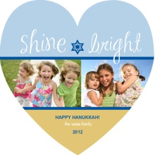 Blue Star of David Hanukkah Card
