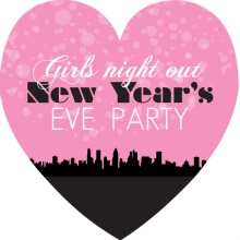 Pink Girls Night Out New Years Party Invite