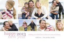 Family Photo New Year Card