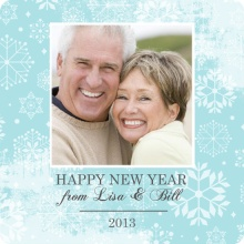 Snow Flurries New Years Photo Card