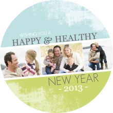 Earthy New Years Photo Card