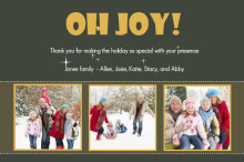 Joyful Photo Thank You Cards