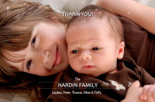 Photo Holiday Thank You Card