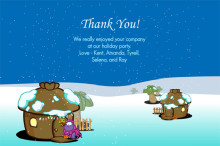 Cute Holiday Thank You Card