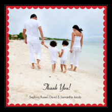 Picture Frame Holiday Thank You Card