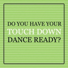 Green Touch Down Dance Football Party Invitation
