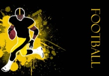 Black and Yellow Football Party Invitation
