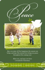 Peaceful Dove Holiday Photo Card