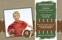 Football Yard Line Birthday Party Invitation