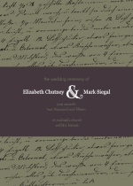 Plum and Sage Script  Wedding Program