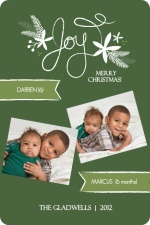 Green Chalkboard Christmas Photo Card