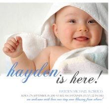Sweet Simple Photo Boy Birth Announcement