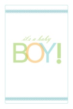 Colorful It's A Boy Baby Announcement