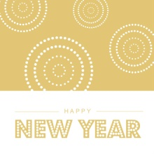 Gold Dots New Years Card
