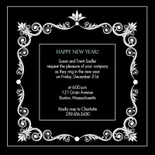 Formal New Years Party Invitation