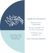 White Partridge Holiday Party Invitation