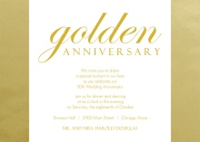 Shimmering Golden  50th Anniversary Party Invitation