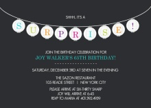 Charcoal Lanterns Surprise Party  Invitation