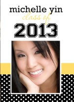 Black and Gold Graduation Party Invitation