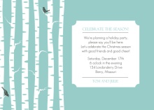 Birch Trees in Winter Holiday Party Invitation