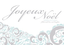 Joyeux Noel Winter Swirls Holiday Card