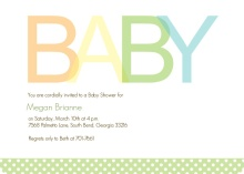 Simple Baby Boy  Baby Shower Invite