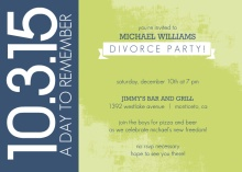 A Day To Remember Divorce Party Invitation