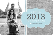 Shabby Chic New Years Photo Card