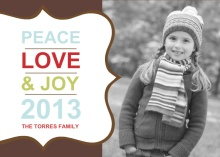 Peace and Joy New Year Wishes Photo Card