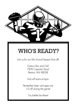Black and White Football Party Invitation