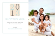 Beachy New Years Photo Card