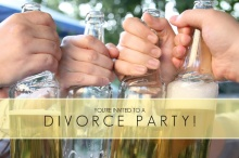 Cheers to the Single Life Divorce Party Invitation