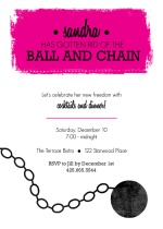Ball and Chain Divorce Party Invitation