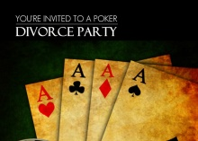 Guys Poker Divorce Party Invitation